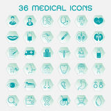 Set medizinische Ikonen Lizenzfreies Stockfoto