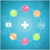 Set medizinische Ikonen Stockfoto