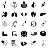 Set medizinische Ikonen Stockfotografie