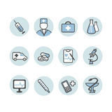 Set medyczna ikona Zdjęcia Stock