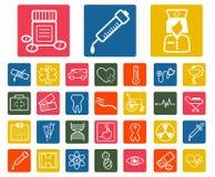 Set medyczne białe ikony. Zdjęcia Royalty Free