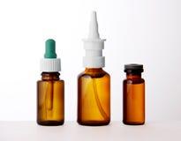 Set medyczne buteleczki Fotografia Royalty Free
