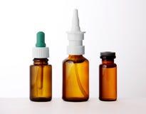 Set medyczne buteleczki Fotografia Stock