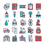 Set medyczne i opieka zdrowotna ikony Zdjęcie Stock
