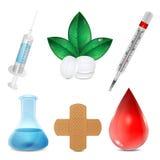 Set medyczne ikony Fotografia Royalty Free