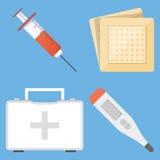 Set medyczne płaskie projekta wektoru ikony Zdjęcia Stock