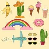 Set Meksyk i podróży ilustracja Ilustracja Wektor