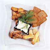 set mellanmål för ostplattasås Royaltyfri Fotografi