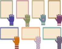 Set of memo board Royalty Free Stock Photography