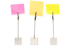 Set of memo holders. Set of three memo holders isolated on white background Stock Image