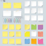 Set of memo Vector Illustration Stock Photography