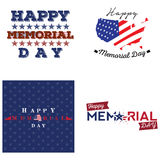 Set of memorial day labels Stock Photography