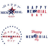 Set of memorial day labels Stock Image