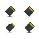 Set memory card, vector illustration. Royalty Free Stock Photo