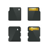 Set memory card, vector illustration. Royalty Free Stock Image