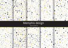 Set memphis background Royalty Free Stock Image