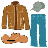 Set of men clothes stock image