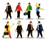 Set of men of different professions Royalty Free Stock Photo