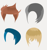 Set of men hair style Stock Photography