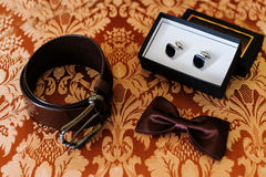 Set of men. Set of the men's accessories Royalty Free Stock Images