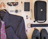Set of men's  accessories. Stock Images