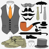 Set of men's accessories Royalty Free Stock Photos