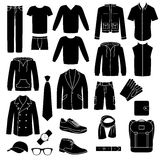 Set of men's clothes icons. Stock Photo