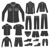 Set of Men's Clothing. Stock Photo