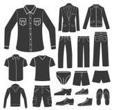 Set of Men's Clothing. Stock Photo