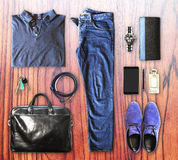 Set of men's clothing Royalty Free Stock Image
