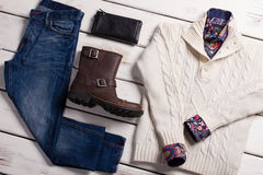Set of men's clothing. Royalty Free Stock Images