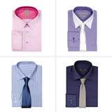 Set of men's shirts isolated on white background on white background Royalty Free Stock Photos