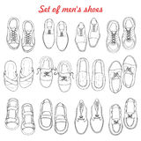 Set of men's shoes on white background Royalty Free Stock Images
