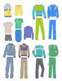 Set of men`s sportswear Royalty Free Stock Images