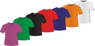 A set of men`s t-shirts Stock Images