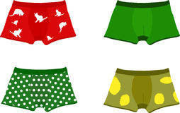 Set of men's underpants. Vector illustration Stock Photos