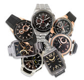 Set of men's watches Stock Image