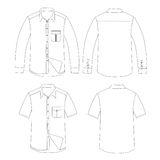 Set of Men Shirt vector Stock Images