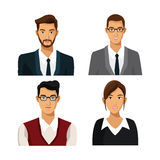 Set men woman team work business Royalty Free Stock Photo