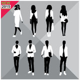 Set of men and women black silhouettes collection. Set of men and women black silhouettes vector illustration