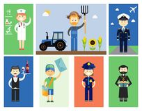 Set of men and women professional characters Royalty Free Stock Photo