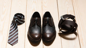 Set of mens conservative style accessory royalty free stock image
