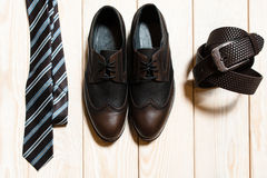 Set of mens conservative style accessory Stock Photo