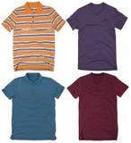 Set of mens shirts. Isolated on white background Stock Images