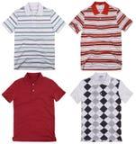 Set of mens shirts. Isolated on white background Stock Photo