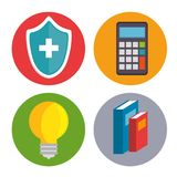Set of mental health and medical icons. Vector illustration graphic design Royalty Free Stock Image