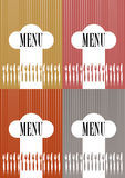 Set of Menu Card Covers Royalty Free Stock Photos