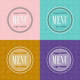 Set of Menu Card Designs royalty free illustration