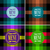 Set of Menu Card Designs Stock Image