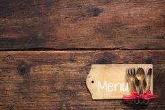Set menu card Royalty Free Stock Photos